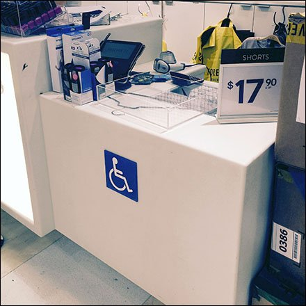 Dedicated Handicapped Checkout Station