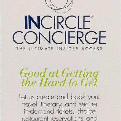 InCircle Concierge Service Sign