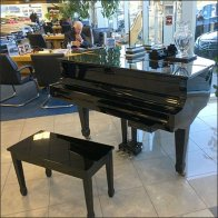 Mercedes Grand Piano as Retail Staging