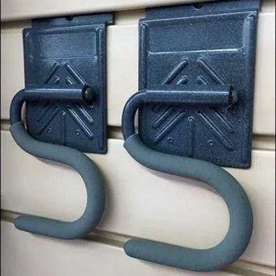 Hinged S-Hooks for Slatwall