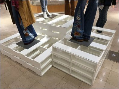 Palletized Pedestals in Apparel 2