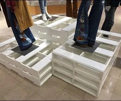 Palletized Pedestals in Apparel 2