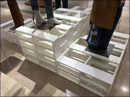 Palletized Pedestals in Apparel 3