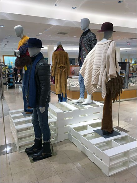 Pallets as Pedestals for Apparel