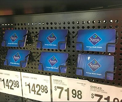 Sam's Club Wire Gift Card Trays
