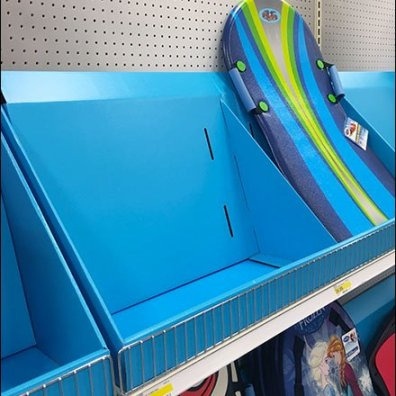 Snow Sled Corrugated Shelf Display 2