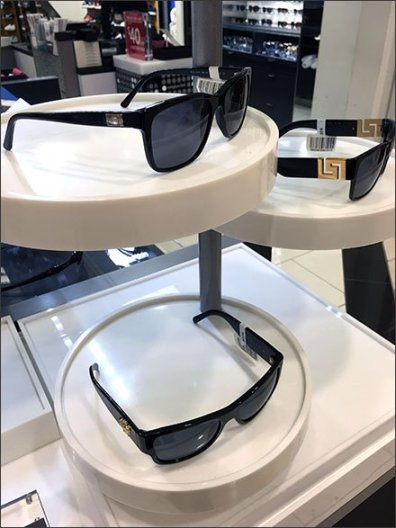 SUNGLASSES MERCHANDISED ON A PLATTER 3