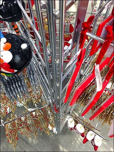 Triangular Wire Grid Christmas Ornament Array