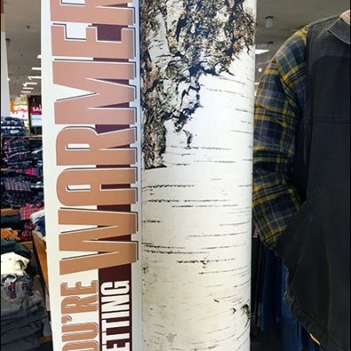 DIY Birch Trees As Christmas Retail Staging