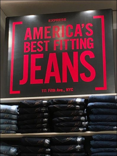 Express Branding America's Best Fitting Jeans