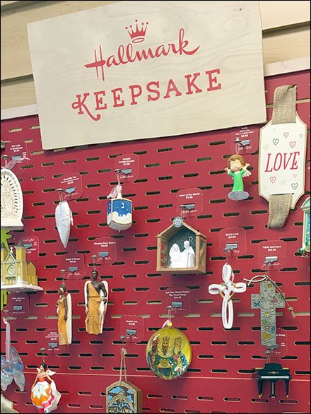 Hallmark Keepsake Staggered Christmas Slotwall