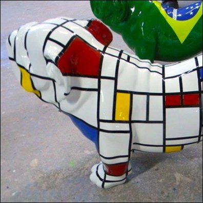 MBMAAN Art Deco Bull Dog