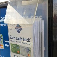 No Cash Accepted Retail Warning