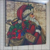 Santa The Original Man Toy Store Sign Painting