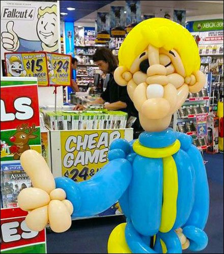 Retail Thumbs-Up Inflatable Display