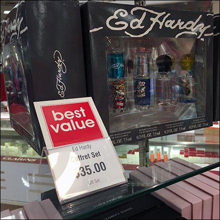 Ed Hardy Branded Bib Tag for Table-Top