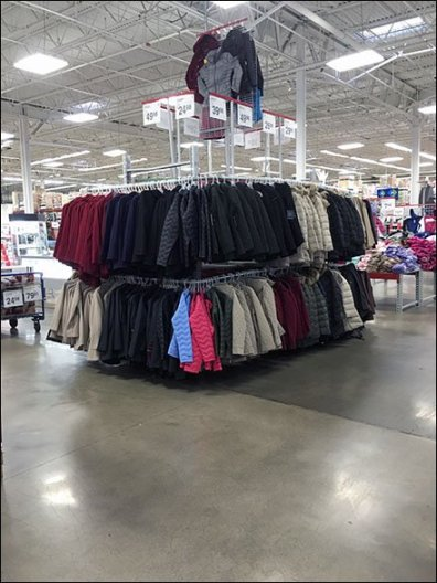Warehouse Winter Coat Bulk Merchandising 1