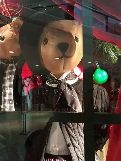 Well Dressed Teddy Bear Window 3