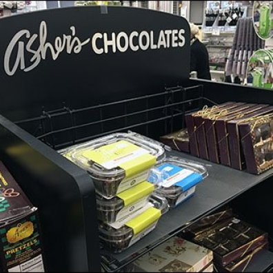 Ashers Chocolate Display Grid Mount Shelves 1