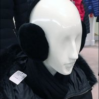 Black on White Earmuff Merchandising Aux