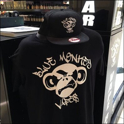 Blue Monkey Vape Bar Branding 3
