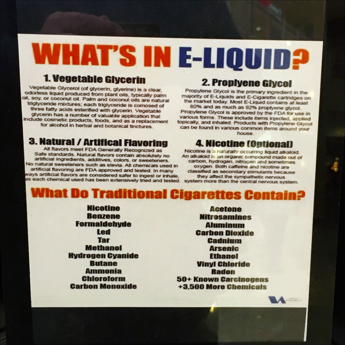 Blue Monkey Vape Bar Ingredients