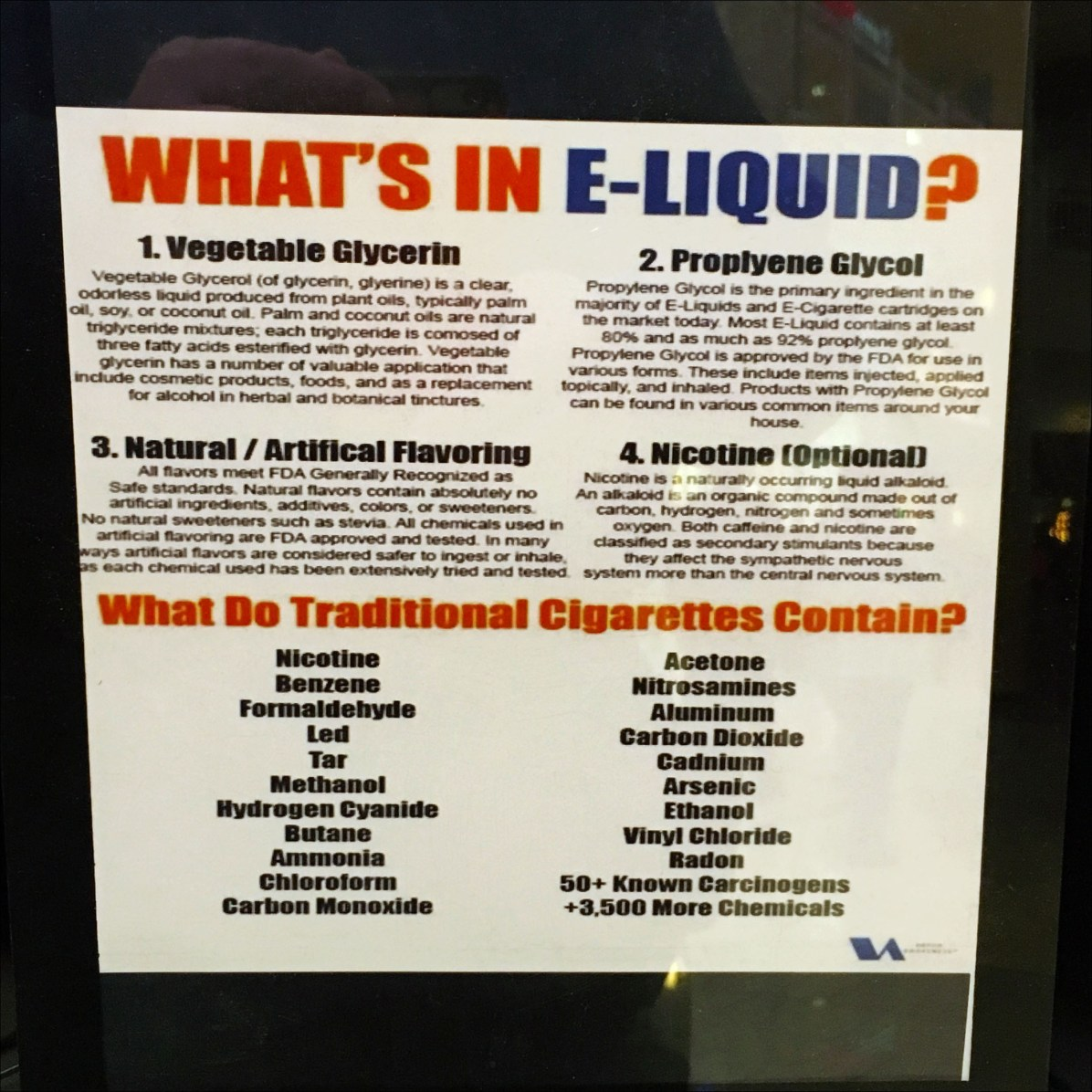 Blue Monkey Vape Bar Ingredients