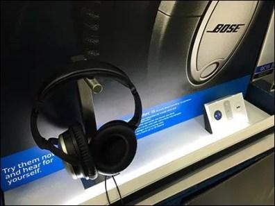 Bose Headphone Display Backlit