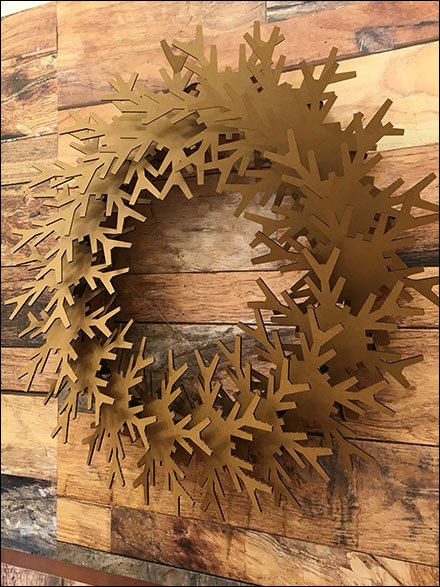 Corrugated Christmas Wreath In Retail