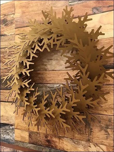 Corrugated Christmas Wreath 1