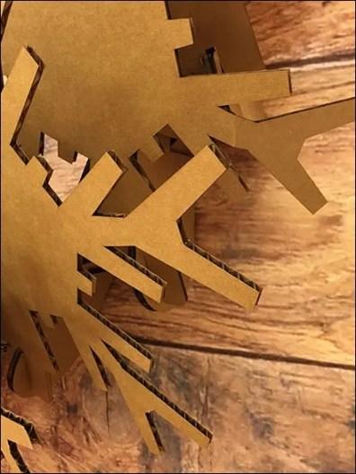Corrugated Christmas Wreath 3