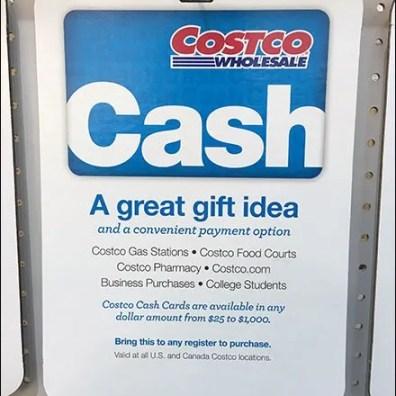 Costco Cash Gift Card 3