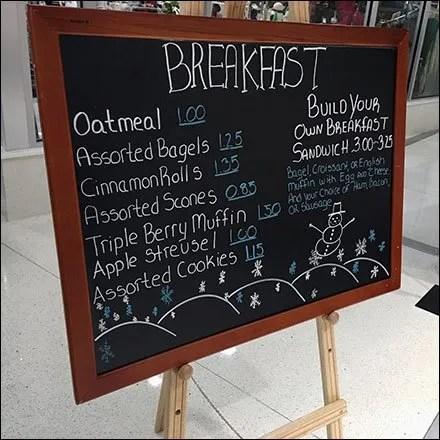Do-It-Yourself Holiday Breakfast Sandwich Easel