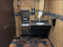 Handicapped Restroom Stall is a Half-Bath