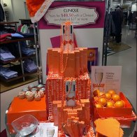 Clinique Happy Holiday Display in Orange