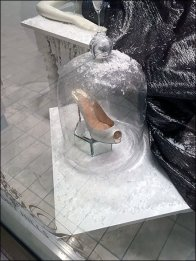 High Heel Frosted Bell Jar 1
