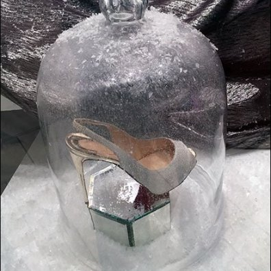 High Heel Frosted Bell Jar 3