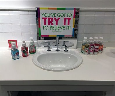 In-Store Sink Encourages Try Me Hashtag