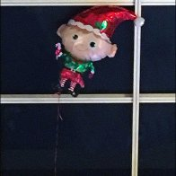 Inflatable Elf Escapes Santa
