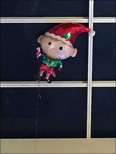 Inflatable Elf Escapes Santa