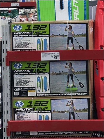 Kayak Merchandising in Center StoreKayak Merchandising in Center Store