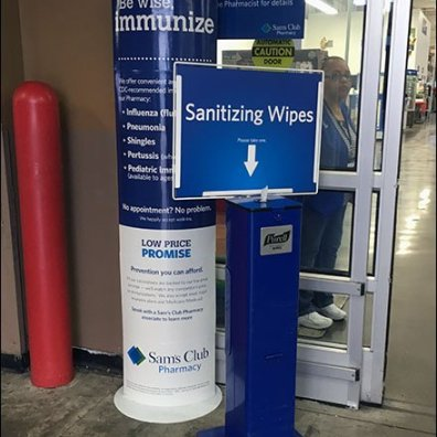 Purell Sanitizing Wipes Store-Entry Station