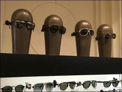 Ray Ban Alien Headforms on Display