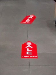 Sale This Way Floor Graphic Trail 3
