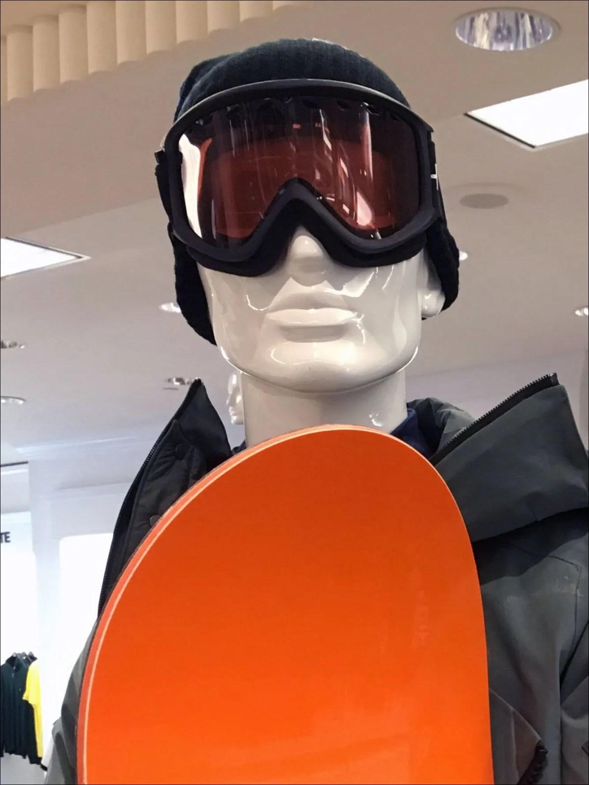 Snowboard Merchandisng Props Closeup