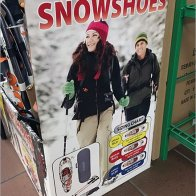 Snowshoe Sales in Supermarkets