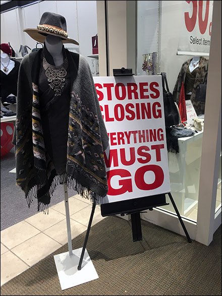 Propped Fashionable Store Closing