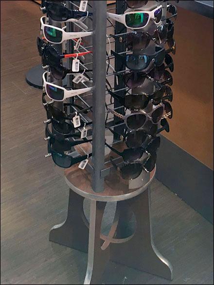 Small-Footprint Sunglasses Spinner Display