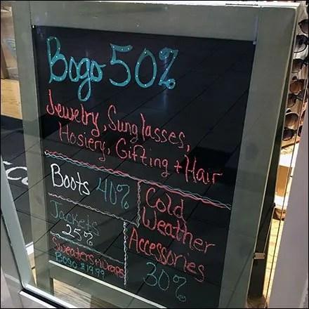 Winter Flourescent BOGO Chalkboard 1