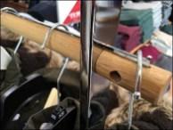 """ Wood Clothing Pole HangrailArmor"""